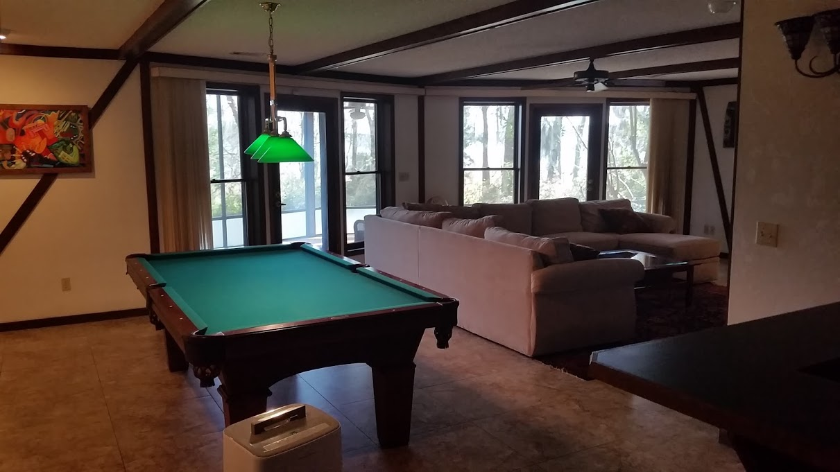 Lower Level includes Pool Table and Bar